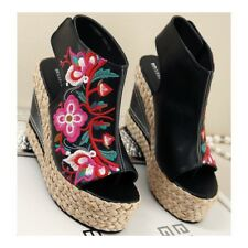 High Heel Embroidered Shoes Slipsole Sandals