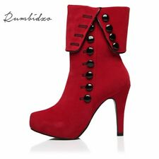 Top Design Fashion Women Boots 2018 High Heels Ankle Boots Platform Shoes Brand