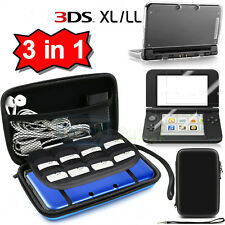 Carrying Bag+Clear Case Cover+Screen Protector for New Nintendo 3DS XL LL 2015 A