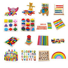 Baby Toddlers Intellectual Developmental Educational Game Wooden Montessori Toys