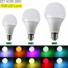 E27 3W/5W/10W AC 85-265V RGB LED Lamp Light Bulb 16 Colors+IR Remote Control #ll