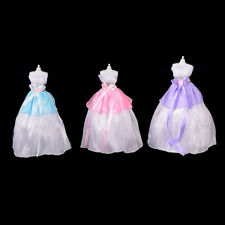 Wedding Party Mini Gown Handmade Dress Fashion Clothes For Barbie Doll 3 ColorY-