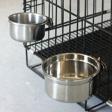 BOLT ON CAGE BOWL Coop Cup, Clamp Dog Dish Crate Stainless Steel Bird 30/20/10oz