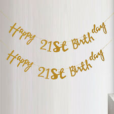 Happy Birthday Bunting 18th 21st 30th 40th Cut Out Word Banner Party Decoration
