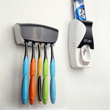 Hands Free Automatic Toothpaste Dispenser Squeezer Kit Toothbrush Holder Set