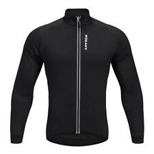 Cycling Jacket Mountain Bike Camping Sports Cycling Jersey Long Sleeve Black