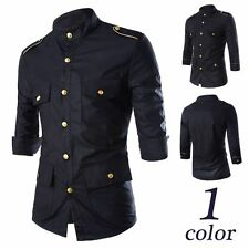 Stylish Mens Luxury Short sleeve Shirt Leisure Slim Fit Stylish Dress Shirts Top