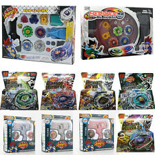 4D Beyblade Fusion Top Metal Master Fight Rapidity Battle Launcher Grip Set Toy
