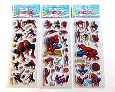 5 or 10 x Childrens Kids 3D SPIDERMAN Sticker Stickers Sheets Party Bag Fillers