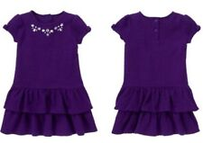 NWT Gymboree Girls Plum Party Textured Tiered Dress Size 6-12 12-18 & 18-24 M