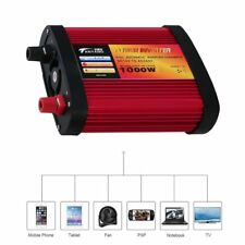 Car Power Inverter DC12V to AC240V with 2 USB Ports+AC Outlet 300W/500W/1000W 2@