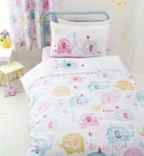 Catherine Lansfield Elephants On Parade Duvet Quilt Cover Set, Kids Bedding