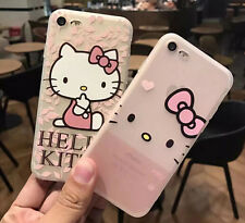 New Cartoon Hello Kitty Silicon Soft Case Transparent Cover Shell For iPhone