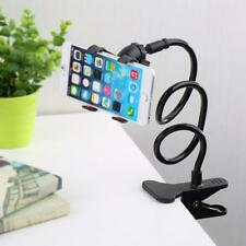 1x Lazy Mount Double V Clip Cell Phone Holder Clamp Flexible 360° Goose neck  B♮
