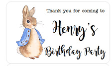 PERSONALISED STICKERS ADDRESS LABELS BABY SHOWER PETER RABBIT BIRTHDAY PARTY