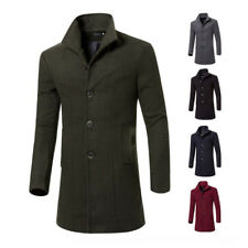 New Mens Long Trench Coat Winter Jacket Wool Coat Overcoat Windbreaker Outerwear