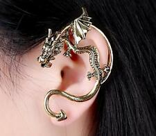 Tragus 18G Earring Stud Body Piercing Cartilage Gothic Dragon wrap cuff