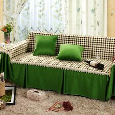 Polyester Warm Sofa Cover Couch Protector for 1 2 3 4 seater OauR Checked Green