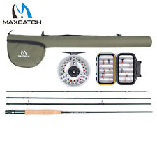 Maxcatch Extreme 3/4/5/6/7/8WT Fly Fishing Rod Outfit/Combos Fly Reel, Fly Line