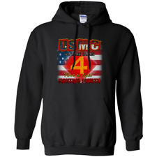 UNITED STATES MARINE CORPS : 4TH MARINE DIVISION: G185 Gildan Pullover Hoodie 8