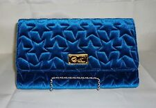 LUV BETSEY Betsey Johnson Amanda Quilted Velvet Crossbody Clutch Wallet NWT $78