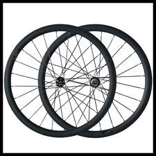 38mm Tubular Disc Brake Carbon wheel Cyclocross 23mm Width 700C 3K Bike Wheelset