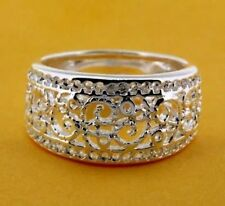 Elegant Trendy Fashion Crystal Silver plated ring jewelry for Women