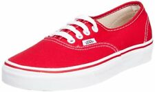 Vans Authentic Men US 6.5 Red Athletic Sneakers