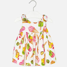 "Mayoral Infant Girls ""Ice Cream Print Dress in Pistachio (1970) aged 18-36mnths"
