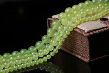 4 6 8 10 12 14mm Natural Light Green Jade Round Gemstone Loose Beads 15'' DIY