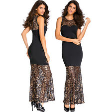 Seamless mermaid lace long evening dress formal party ceremony women festive