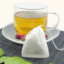 new 50Pcs Empty Teabags String Heat Seal Filter Paper Herb Loose Tea Bag White