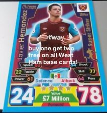 Match Attax Premier league 2017/18 cards.West Ham base cards. Buy 1 get 2 free!