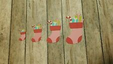 Christmas Stocking Die Cuts, Embellishments, Punchies, Punches, Scrapbooking