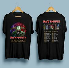 New IRON MAIDEN - Legacy Of The Beast European Tour 2018 T-Shirt Black S-3XL