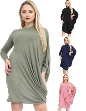 Womens Ladies One Shoulder Ruched Baggy Top Casual PLUS SIZE Loose Blouse Tops