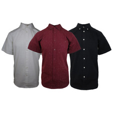 NWT Mens Obey Static Dots Short Sleeve Woven (Retail: $90)