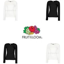 Fruit of the Loom Womens Lady-Fit Crew Neck Long Sleeve T-Shirt