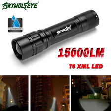 Tactical 15000LM 3 Modes T6 LED Zoomable Flashlight Torch Lamp Light Fit 18650