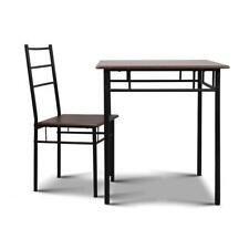 NEW Industrial Dining Table and Chairs Set Walnut and Black