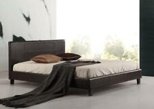 NEW Queen PU Leather Bed Frame Brown