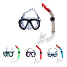 Scuba Dive Mask Half Dry Snorkel Gear Set Snorkeling Spearfishing Underwater