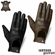 Mens Leather Gloves Running Winter Driving Dress Leather Full Finger Gloves