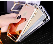 Soft Luxury Mirror Metal Ultra Thin Cover Case For Apple iPhone 5 6 7 SE 7Plus
