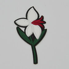 Four Leaf Flower Embroidered For Clothing Iron On Patch Sew Motif Applique badge
