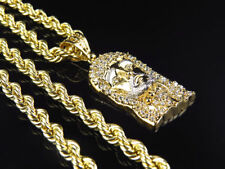Mens or Ladies 10K Yellow Gold 5MM Hollow Rope Chain Necklace 20-28 Inches