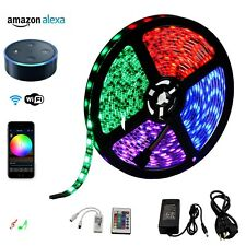 5050 RGB Wifi LED Strip Lights Kit Compatible with Alexa, Google Home,IFTTT
