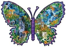 Rainforest Butterfly 1000pc Shaped Jigsaw Puzzle by Alixandra Mullens
