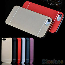 EP_ New Luxury Metal Brushed Aluminum Shell Back Case Cover For iPhone 4 4S 5 5S