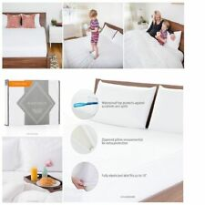 Mattress Protector + 2 Pillow Protector Hypoallergenic Waterproof  Bed Cover Set
